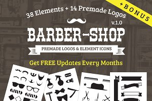 Barber Shop Logo Kit + BONUS