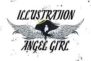 Illustration Angel Girl Clipart