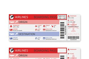 Airplane boarding pass template