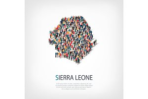 people map country Sierra Leone vector