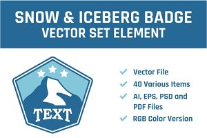 Snow & Iceberg Vector Set Element