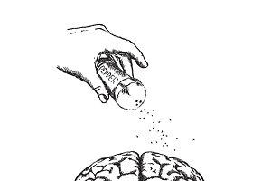 Sharp mind concept