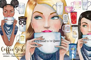Coffeebreak watercolor clipart
