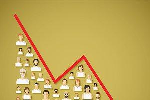 Population decline concept