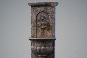 Urn wall fountain