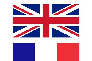 Flags of UK and France