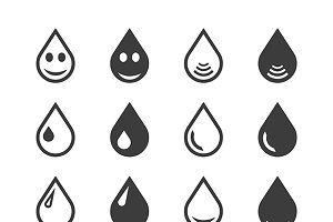 Water drops iconset