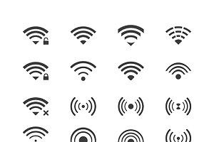 Wifi iconset