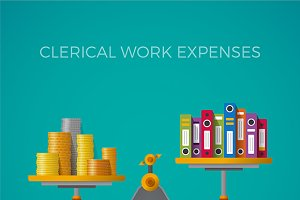 Clerical work expenses concept