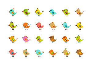 Cute birds iconset