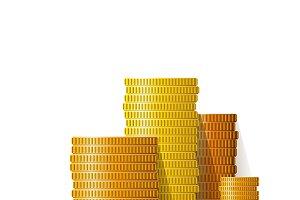 Coin piles set