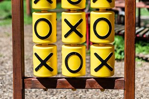 Tic-tac-toe game on the playground