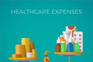 Healthcare expenses concept