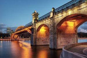 Pushkinsky bridge in Moscow
