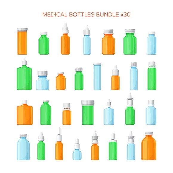 Medical Bottles Set