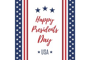 Happy Presidents Day poster or brochure template.