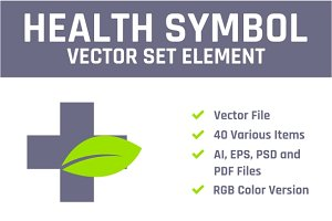 Health Symbol Vector Set Element