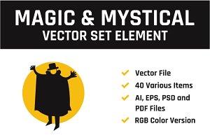 Magic & Mystical Vector Set Element