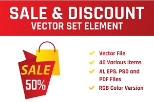 Sale & Discount Label Vector Set