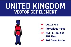 United Kingdom Vector Set Element