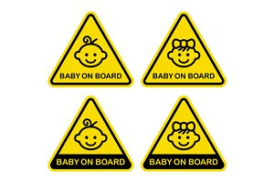 Baby on Board Sign Set