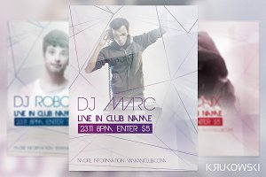 DJ Live in Club Flyer