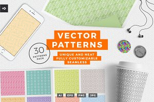 30 Vector Seamless Patterns Pack