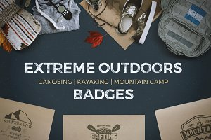 9 Extreme Logos / Outdoor Badges