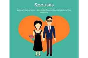 Spouses Concept Vector in Flat Design