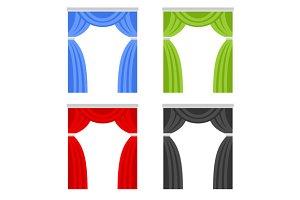 Color Curtain Set