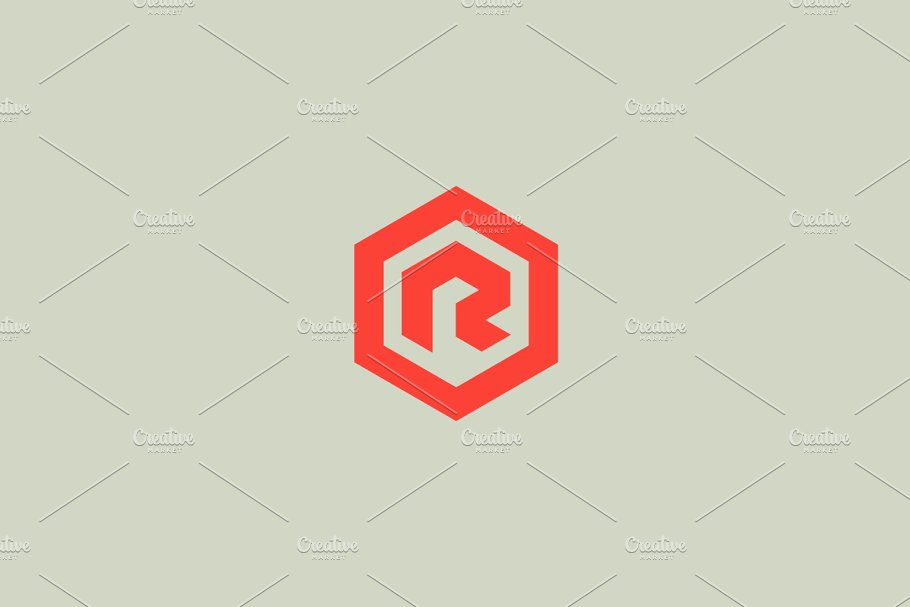 f0f6c6042fb Save. Abstract letter R vector logotype. Line hexagon creative simple logo  design template. Universal geometric
