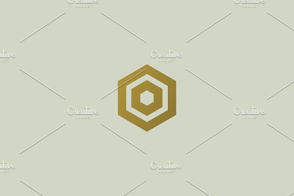 Abstract letter O vector logotype. Line hexagon creative simple logo design template. Universal geometric symbol font icon.