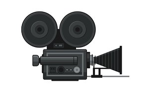 Retro Movie Video Camera Icon