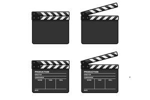 Blank Clapper Board Set