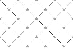 Luxury seamless pattern with crowns