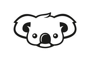 Koala Bear Sign Logo
