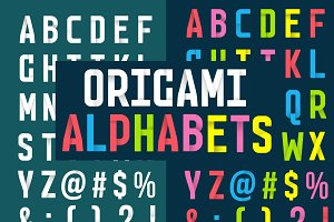 Origami Alphabets - White & Colour
