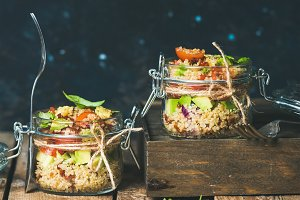 Homemade quinoa salad with tomatoes
