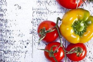 Border of healthy Bio Vegetables