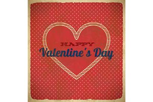 Valentine's Day card with polka dots