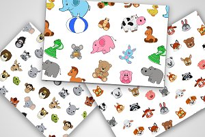 Pattern of funny animals