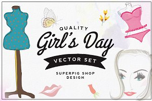 Girl's Day Vector Set