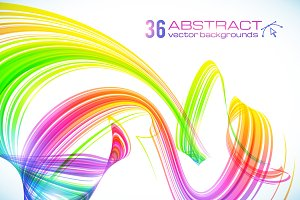 36 vector futuristic backgrounds
