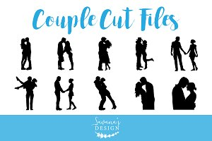 Silhouette Couple Cut Files