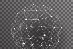 Abstract polygonal wireframe