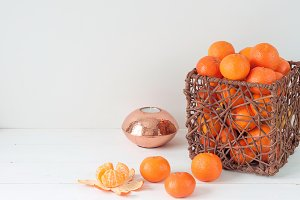 Bright composition with tangerines