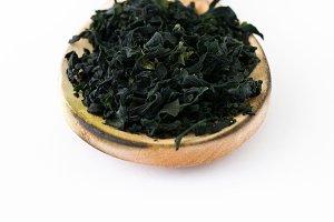Dried japanese wakame seaweed