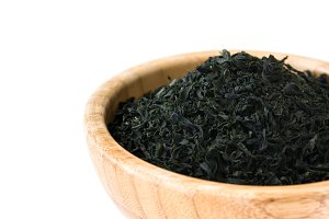 Dried japanese wakame seaweed