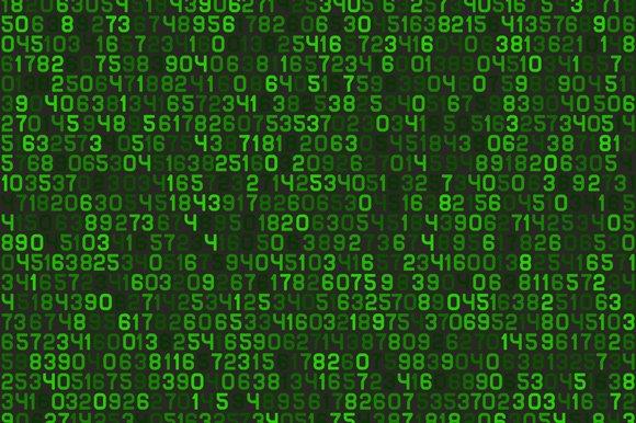 Decimal Computer Code Background