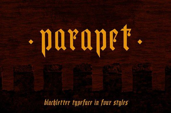 Parapet Blackletter Typeface